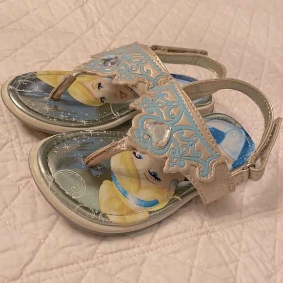 Disney Cinderella Metallic & Sparkly Tiara Sandals